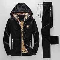 Boys & Men Versace Fashion Cardigan Jacket Coat Pants Trousers Set Two-Piece