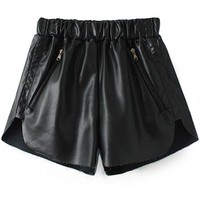 Cool Nightwalker Black PU Shorts - OASAP.com
