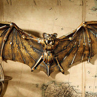 Cyberbat Steampunk Wall Plaque