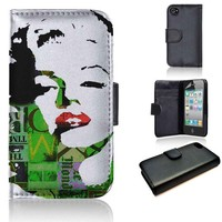 Marilyn Monroe | wallet case | iPhone 4/4s 5 5s 5c 6 6+ case | samsung galaxy s3 s4 s5 s6 case |