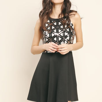 Spangle Mini Dress