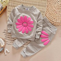 Autumn Winter Baby Girls Clothes T-shirt+Pants 2pcs Outfit Suit Baby Girls Clothing Set Newborn Clothes