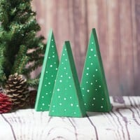 Small Wooden Trees with dots