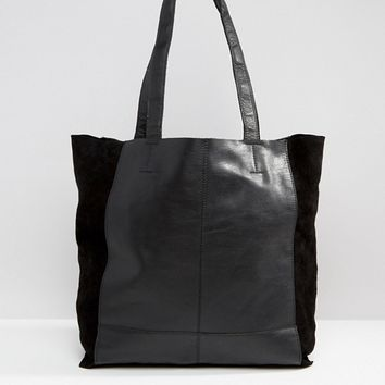 Warehouse Leather Unlined Shopper at asos.com