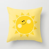 Sunshine Throw Pillow by Limitation Free