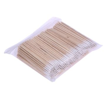 300pcs Wooden Handle Cotton Swab Makeup Applicator Medical Swabs Ear Jewelry Clean Sticks Buds Tip Grafted Eyelashes