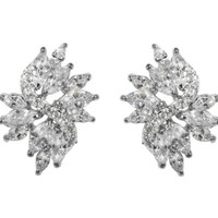 Shani Marquise Cluster Statement Stud Earrings | 6ct