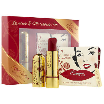 Bésame Cosmetics Lipstick & Matchbook Set (Red Velvet 1946)