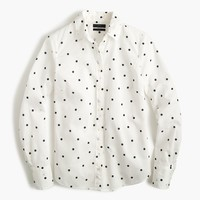 Perfect shirt in onyx dot : Women button-ups | J.Crew