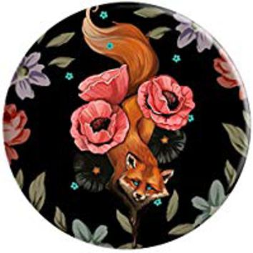 Popsockets Fox with Blue Eyes in the Floral Field - PopSockets Grip and Stand for Phones and Tablets