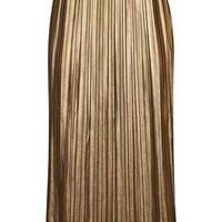 Metallic Jersey Pleat Skirt - Skirts - Clothing