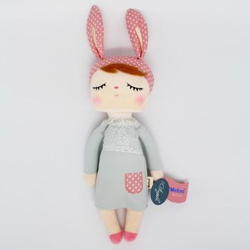 Metoo angela rabbit dolls 35cm baby plush toy doll sweet cute stuffed toys Dolls for kids girls Birthday/Christmas Gift