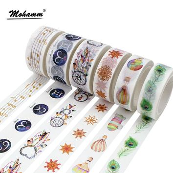 Creative Kawaii Constellation Feather Decorative Adhesive Tape Washi Tape DIY Scrapbooking Masking Tape School Office Supply