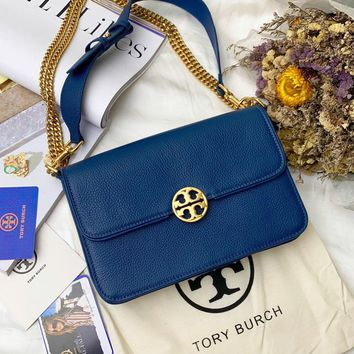 Beauty Ticks Tb Tory Burch Women's Leather Inclined Shoulder Bag #4641