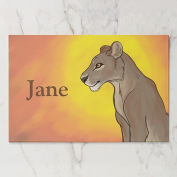 Queen Lioness Paper Placemat