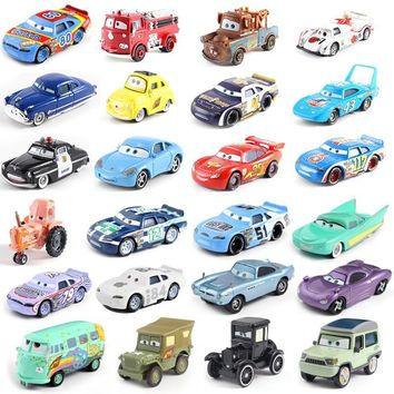 22 models Disney Pixar car 3 car family whirlwind McQueen Mater Jackson storm Ramirez 1:55 die-cast metal alloy model toy car 2