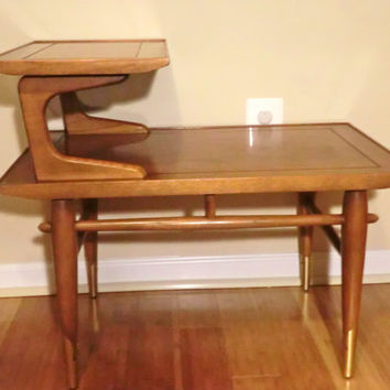Mid Century two tier Lane Side Table