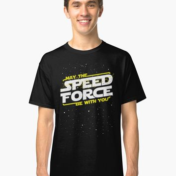 'May The Speed Force Be With You' T-Shirt by fenixlaw
