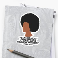 'Angela Davis ' Sticker by rasmalais