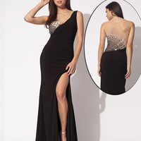 Jersey sleeveless gown 90670 - Prom Dresses