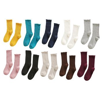 Women's 10 Pack Solid Candy Color Dress Socks Casual Loose, Size 4-10
