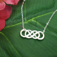 Revenge Double Infinity X Infinity Silver Necklace by yhtanaff