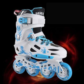 professional Wear-proof breathable high speed inline skates roller skates shoes 4 wheels outdoor adults men women skating