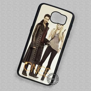 Captain Hook and Emma Swan Once Upon a Time - Samsung Galaxy S7 S6 S5 Note 5 Cases & Covers
