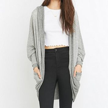 Silence + Noise Cali Cocoon Grey Cardigan - Urban Outfitters