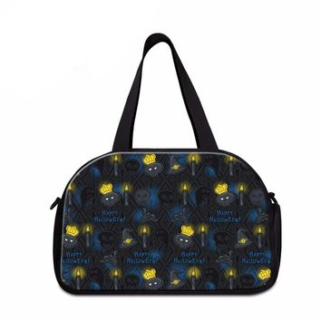 Skull Travel Bag Canvas Handbag Luggage Duffel Bag Shoulder Bags