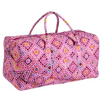 Quilted Sleepover Duffle Bag, Ruby Warm