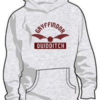 Gryffindor Quidditch Hooded Sweatshirt (Ash/Maroon) Small [P*]