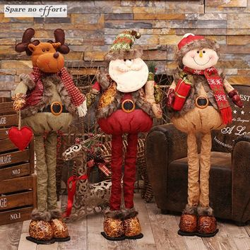Navidad Decoraciones Para El Hogar Christmas Dolls Decoration Santa Snowman Toys Figurines Xmas Home Supplies Kerst 2017 Noel