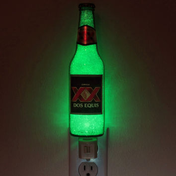 Dos Equis Beer 12oz Night Light  Accent Lamp Eco LED man cave bar light Mexico