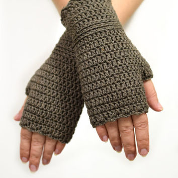 Charcoal gray wristwarmers, supersoft merino wool armwarmers, crocheted fingerless gloves, office gloves