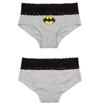 New 5 styles Sexy Women's Lace Batman Underwear Panties Boxer Briefs Knickers Lingerie