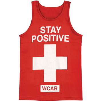 We Came As Romans Men's  Stay Positive Mens Tank Red Rockabilia