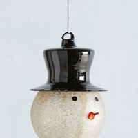Stovepipe Hat Ornament by Anthropologie in Light Grey Size: One Size House & Home
