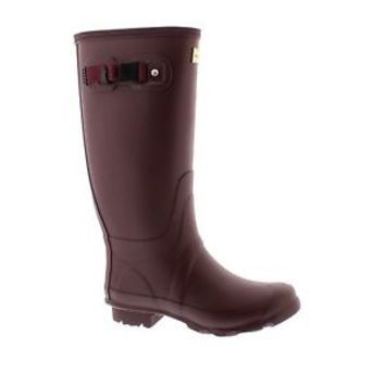 HUNTER HUNTRESS BURGUNDY PURPLE TALL EXTENDED CALF WELLINGTON BOOTS Wide Welly
