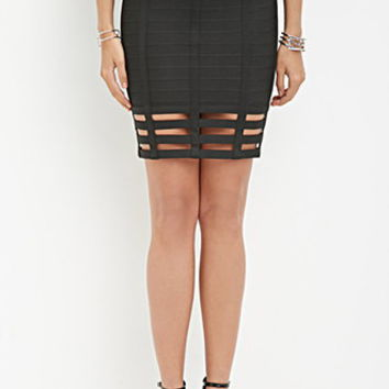 Cutout Bandage Skirt