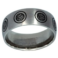 Volleyball Stainless Steel Ring
