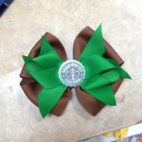 Custom Made To Order Starbucks Bottle Cap Hair Bow
