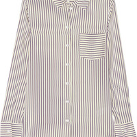 Band of Outsiders - Striped silk crepe de chine shirt