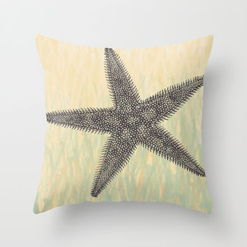 Starfish ~ The Summer Series Throw Pillow by Mary Kilbreath