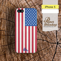 iPhone 5 case, iPhone 4 case, Decoupage case for iPhone : USA Flag.