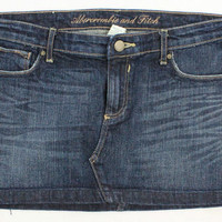Abercrombie & Fitch Dark Wash Jean Skirt - Misses 4