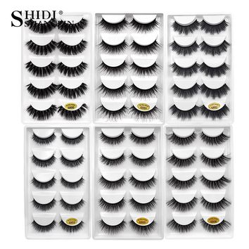 SHIDISHANGPIN 3d mink false eyelashes hand made 1 box eyelashes full strip lashes faux cils false eyelash natural long lashes