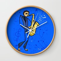 Saxman Wall Clock by Giuseppe Lentini