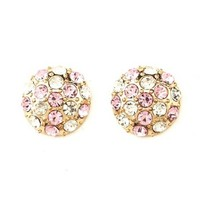 Rhinestone Dome Stud Earrings: Charlotte Russe
