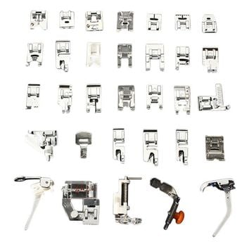 32Pcs Mini Home Domestic Sewing Machine Braiding Blind Stitch Darning Presser Foot Feet Kit Set For Brother Singer Janome(front)